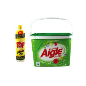 Lessive en poudre AIGLE + Javel