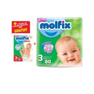 80 Couches bébé midi MOLFIX