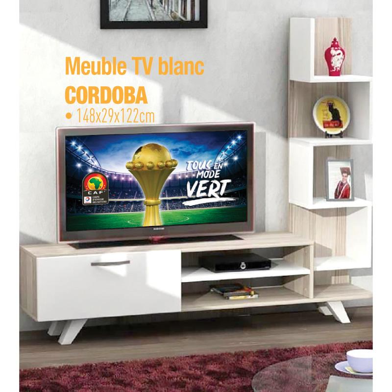 Meuble TV blanc CORDOBA