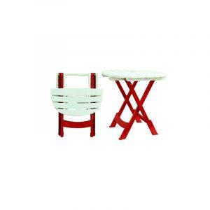 PACK de deux chaises pliantes + Table pliante METAPLAST