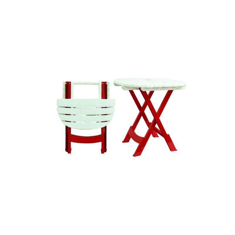 Pack De Deux Chaises Pliantes Table Pliante Metaplast
