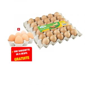 30 œufs frais + une barquette gratuite