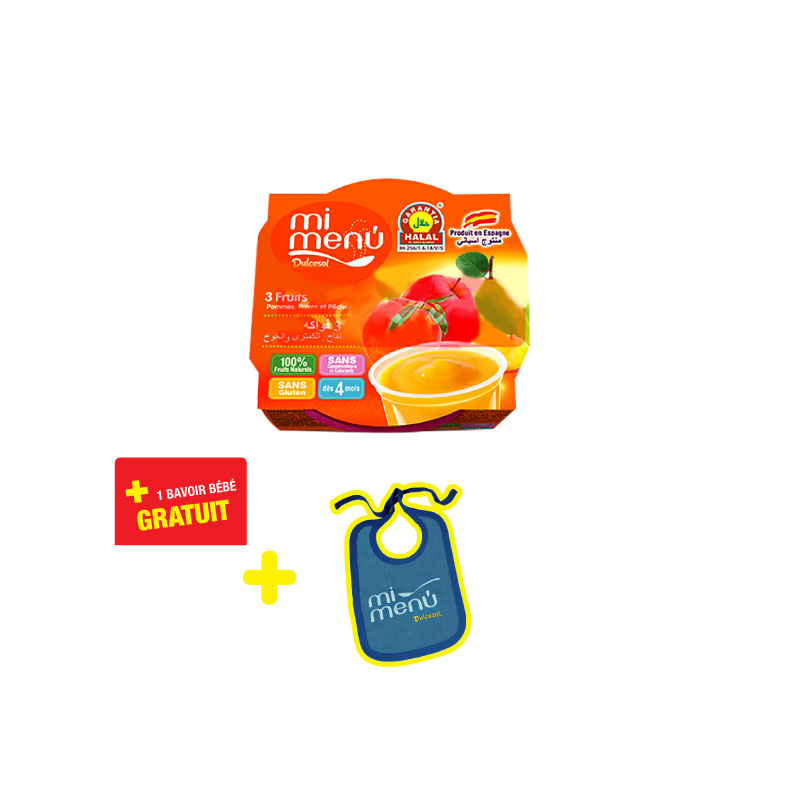 Compote 3 fruits DULCESOL