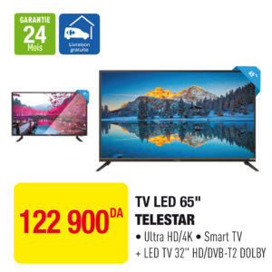 "TV LED 65"" TELESTAR"