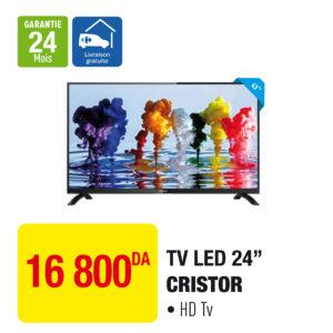 """TV LED 24"""" CRISTOR"""