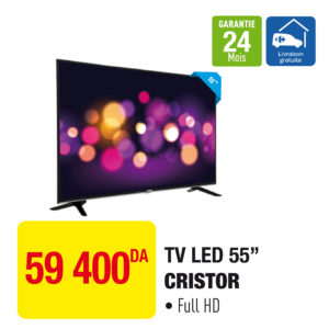 """TV LED 55"""" CRISTOR"""