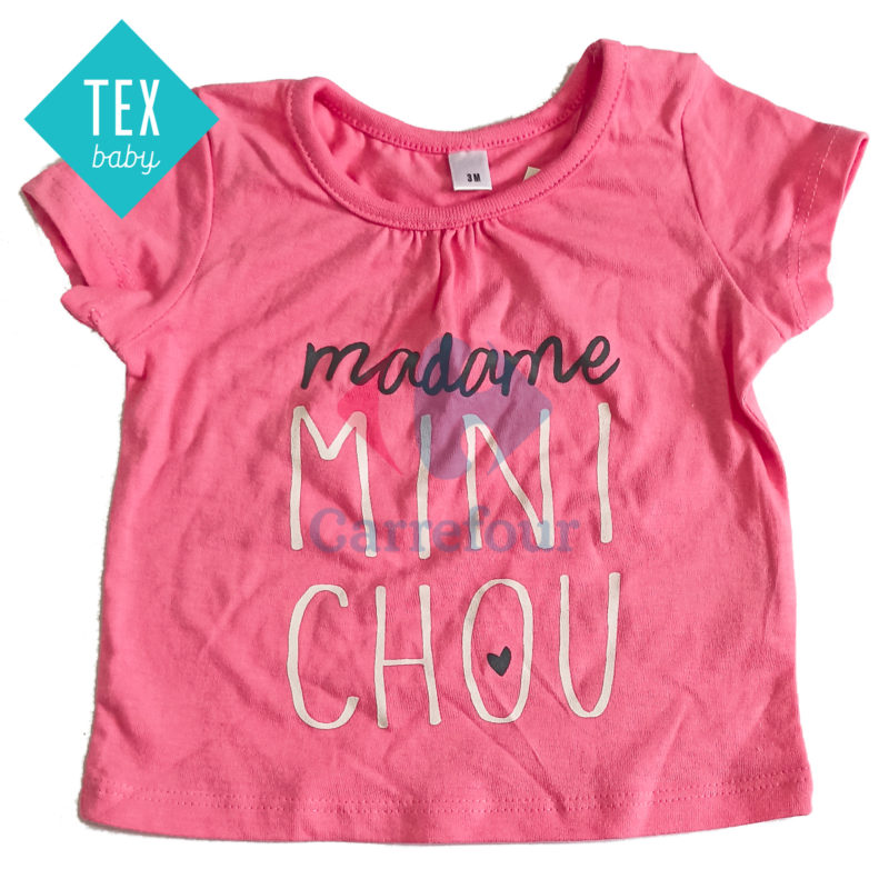 T-SHIRT MANCHES COURTES TEX BABY
