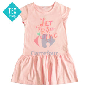 ROBE FILLE MANCHES COURTES TEX BABY