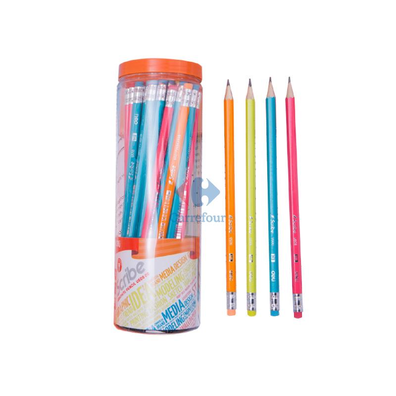 Crayon noir avec gomme DELI